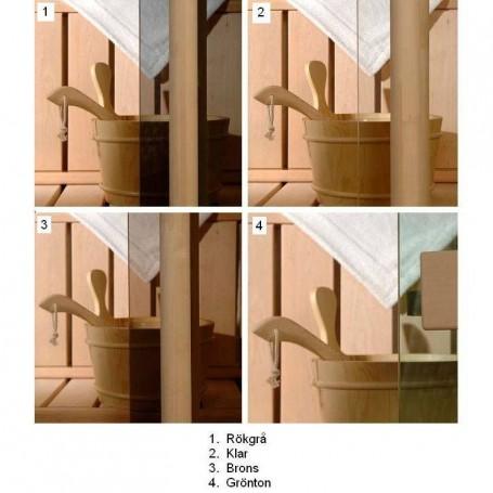 Bastufönster storlek 5x19   Bastufönster 5x19  Bronsfärgat glas, med Aspkarm