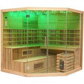 Utgående produkter   Multibastu Corner 6-7 personer   Bastu yttermått:Längd: 2060 mmHöjd : 2000 mmBredd : 2060 mmSlutsåld och h