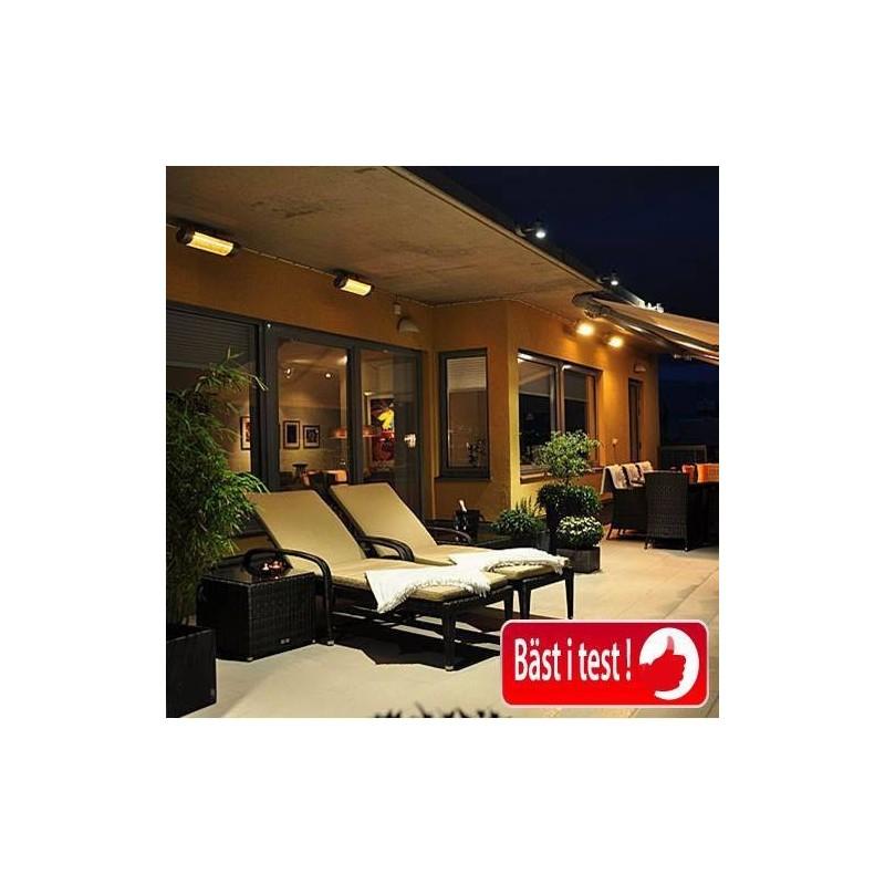 Utgående produkter HeatLight HLW30 terrassvärmare 3000 w -Svart- ( Duo ) 3795 1