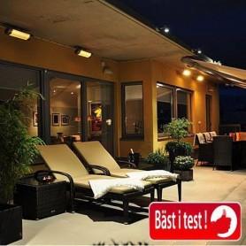 Utgående produkter   HeatLight HLW15 vit terrass värmare 1500 w