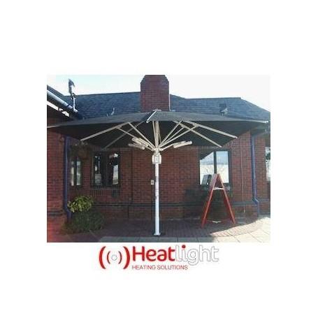 Terrassvärmare   Heatlight Parasoll arm Vit