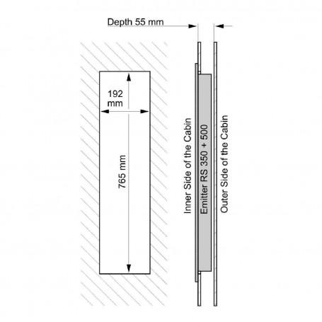 IR- Vitae Fullspectrum   IR Fullspektrum Thermolight 350 W   Placering: Rygg, SidaFärg: Grå, Röd eller Svart