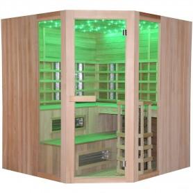 Multibastu   Multibastu Corner 5-6 personer   Infra-bastu för 5-6 personerStorlek:1800 x1800 x 1980 mmTräslag:CederVärmesyst