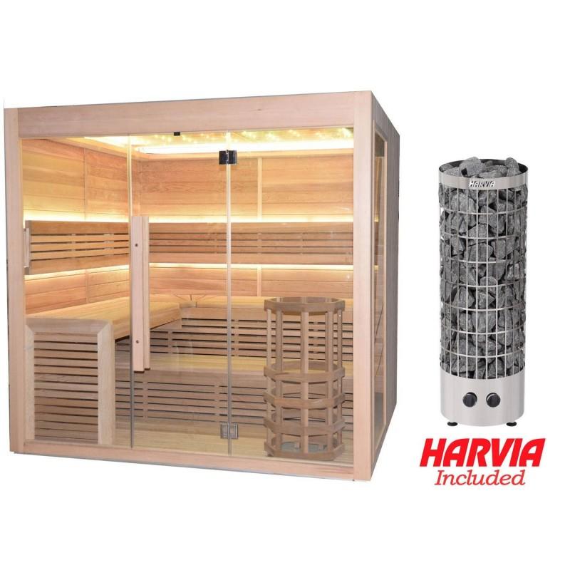 Utgående produkter   Bastu Hot Cube för 6-7 personer   Yttermått:Längd: 2000 mmHöjd: 2000 mmBredd: 2000 mm