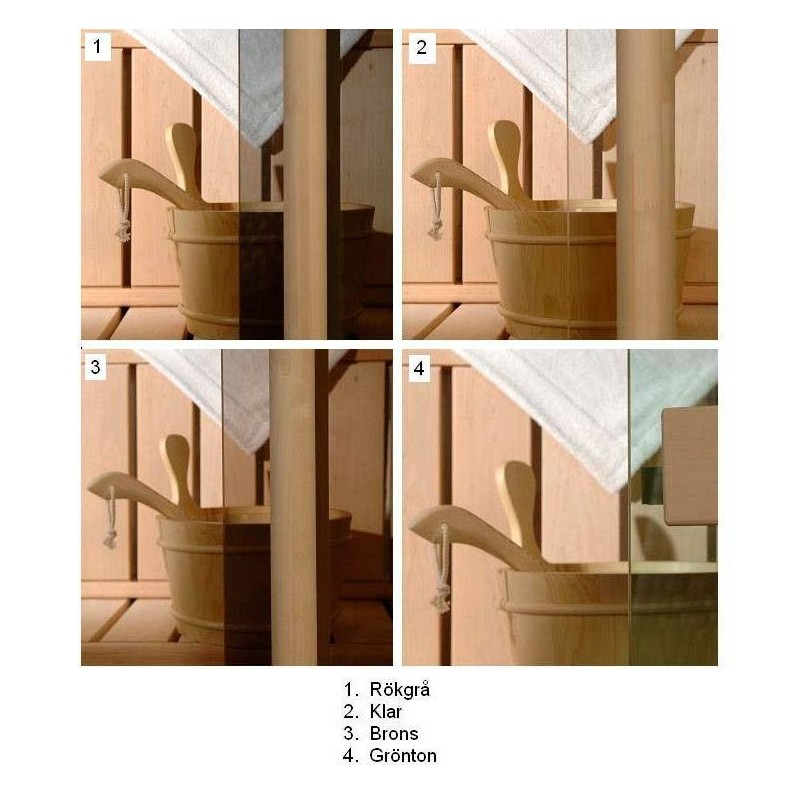 Bastufönster storlek 5x9 Bastufönster 5x9 Klart Glas med Al-karm 1190 1