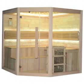 Traditionell bastu Rocky sauna traditionell hörnbastu 34995 Yttermått:Längd: 2000 mmHöjd: 2000 mmBredd: 2000 mmLeveranstid:2