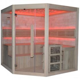Bastu Traditionell   Rocky sauna  traditionell hörnbastu   Traditionell bastuför 5 till 6 personer.Storlek:2000x 2000x 200