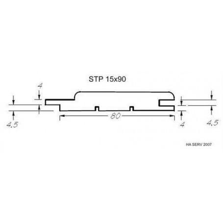 Bastupanel ASP 15x90   Bastupanel i asp. 15x90mm Längd: 2,1 m. 6st/pkt   Längd: 2,1 m. 6st/pkt