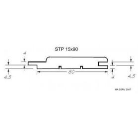 Värmebehandlad ASP 15x90   Bastupanel i värmebehandlad asp. 15x90mm Längd: 2,1 m. 6st/pkt   Längd: 2,1 m. 6st/pkt