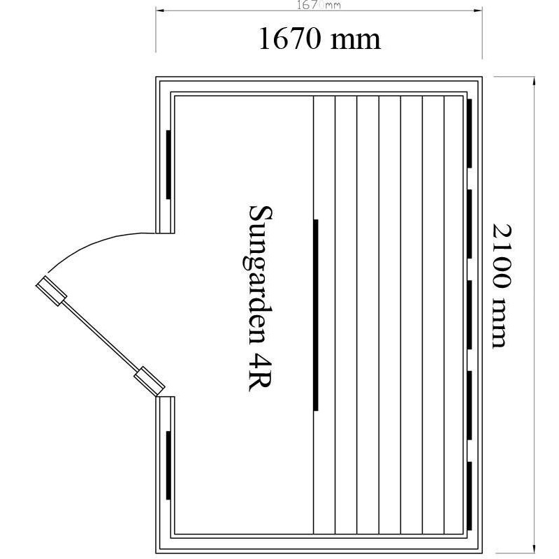 Utgående produkter Bastu Sungarden 4R- infraröd bastustuga