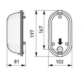 Belysning   Bastuarmatur med glaskupa AVH15