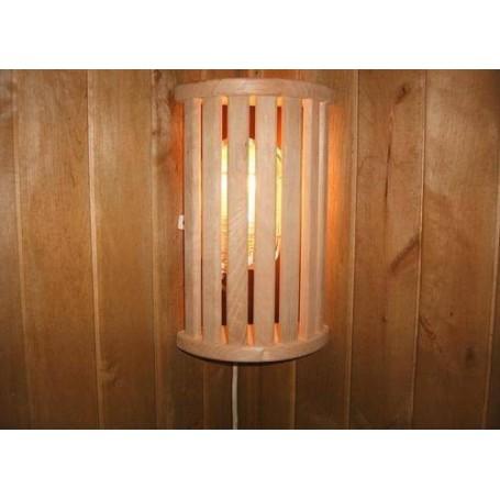 Skärmar   Lampskärm i Asp, 7 ribbor hörnmodell