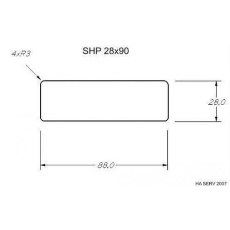 Värmebehandlad  ASP 28x90   Bastulav värmebehandlad asp 28x90mm Längd: 2,4 m   Längd: 2,4 m
