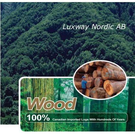 Infraröd bastu tillverkad av hemlockträ
