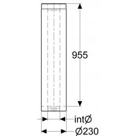 Skorstenar och rökrör till bastuugnar   Skorstenslängd Schiedel, 955 mm 120