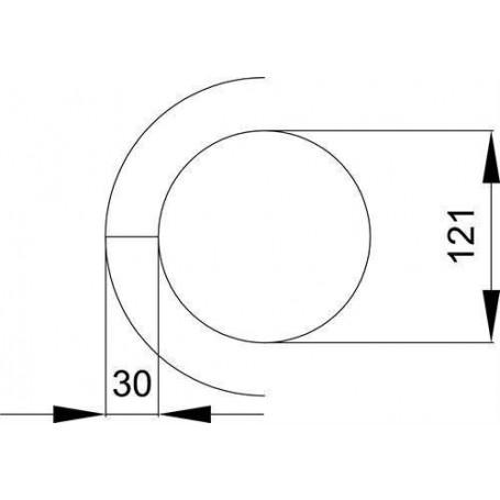 Skorstenstillbehör till bastuugnar   Värmesköld rostfri L=850 mm