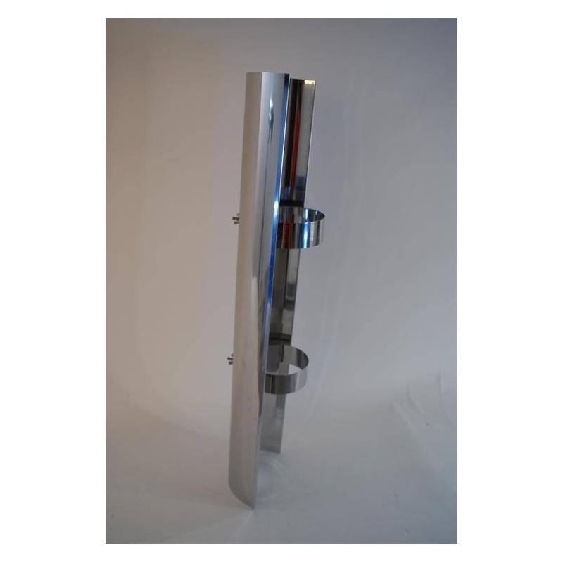 Skorstenstillbehör till bastuugnar Värmesköld rostfri L=850 mm 1069 1