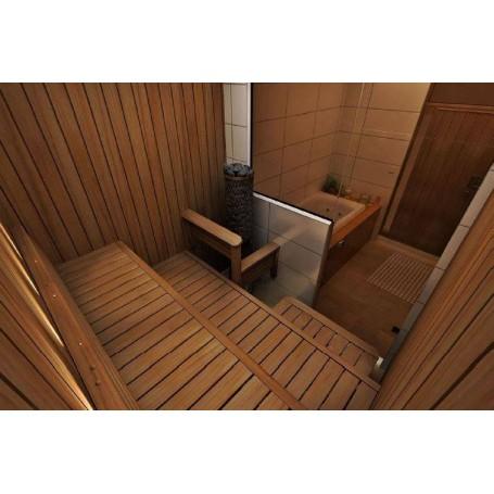 Färdiga lavar   Bastuinredning komplett, Sun Sauna Swing. 1750 mm