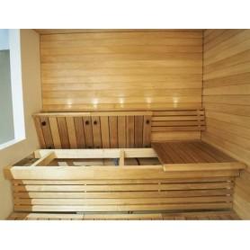Färdiga lavar   Bastuinredning komplett Al, Sun Sauna Swing. 2120 mm