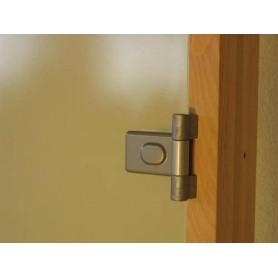 Bastudörrar storlek 8x20   Bastudörr 8x20 Classic med bronsfärgat glas och furukarm