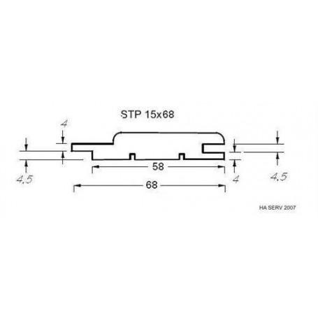 Bastupanel ASP 15x68   Bastupanel i asp. 15x68mm Längd: 2,7 m. 6st/pkt   Längd: 2,7 m. 6st/pkt