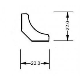 Trälister för bastu   14x31 Hörn/taklist i al. Längd: 2,4 m