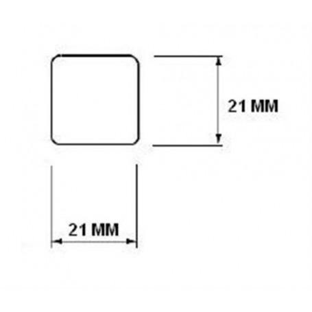 Trälister för bastu   21x21 Fyrkantlist, runda hörn i asp. Längd: 2,4 m