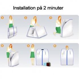 Portabel IR-bastu enkel att montera