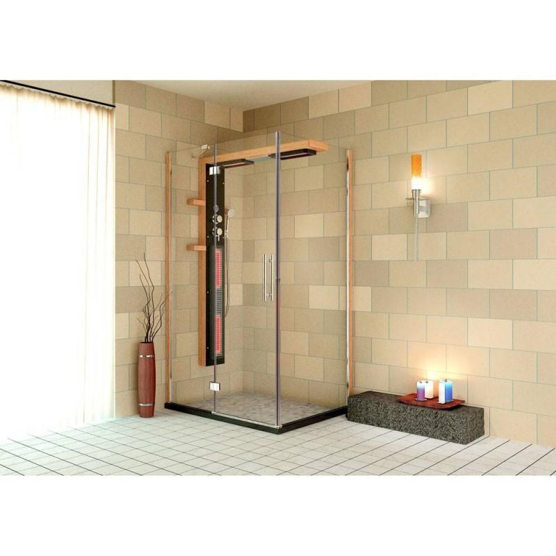 Duschkabin Infraröd Aqua Plus dusch hörna 12900 Yttermått.Längd : 1200 mmHöjd : 1980 mmBredd : 900 mmLeveranstid:2-3 dagar(