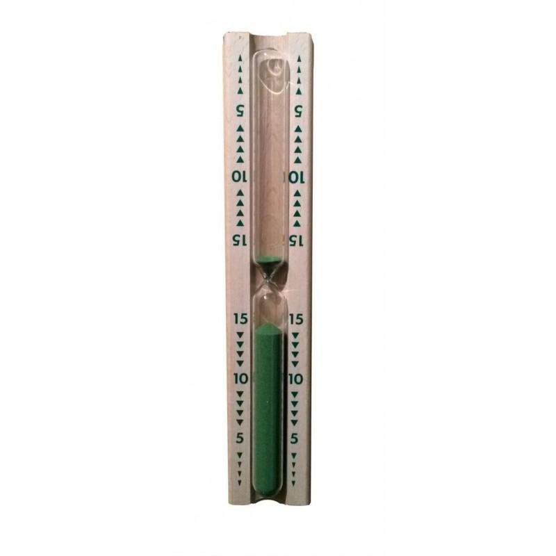 Termo och hygrometer   Sandur i trä, grön, 15 min