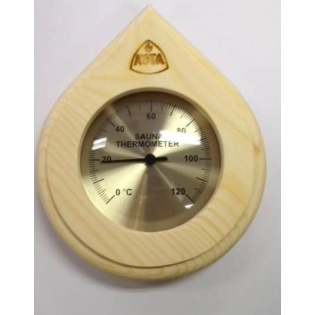 Termo och hygrometer   Kota Bastutermometer droppe Furu - 250TP