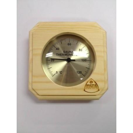 Termo och hygrometer   Kota Bastutermometer fyrkant Furu - 220TP