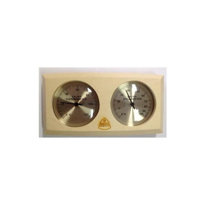 Kota Termometer/Hygrometer asp trä