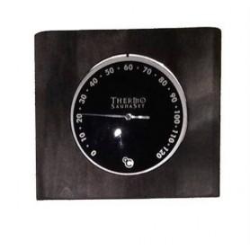 Termo och hygrometer Hygrometer i svartlaserad björk