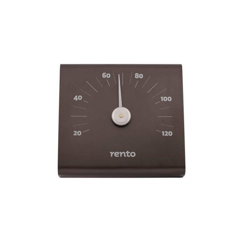 Termo och hygrometer Rento bastu-termometer i Aluminium Grafit-grå
