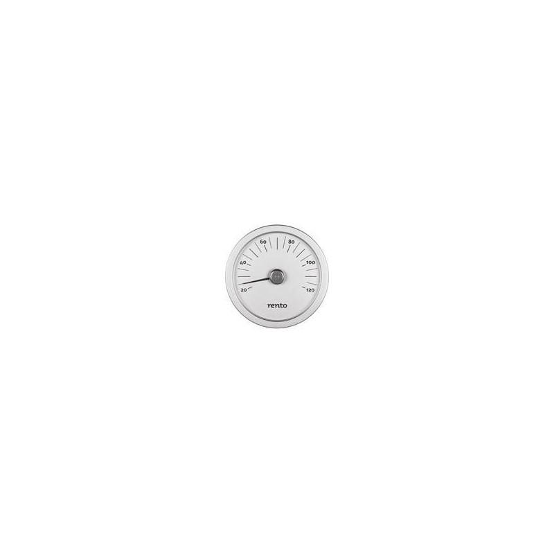 Termo och hygrometer Rento bastutermometer i Aluminium Grafitgrå