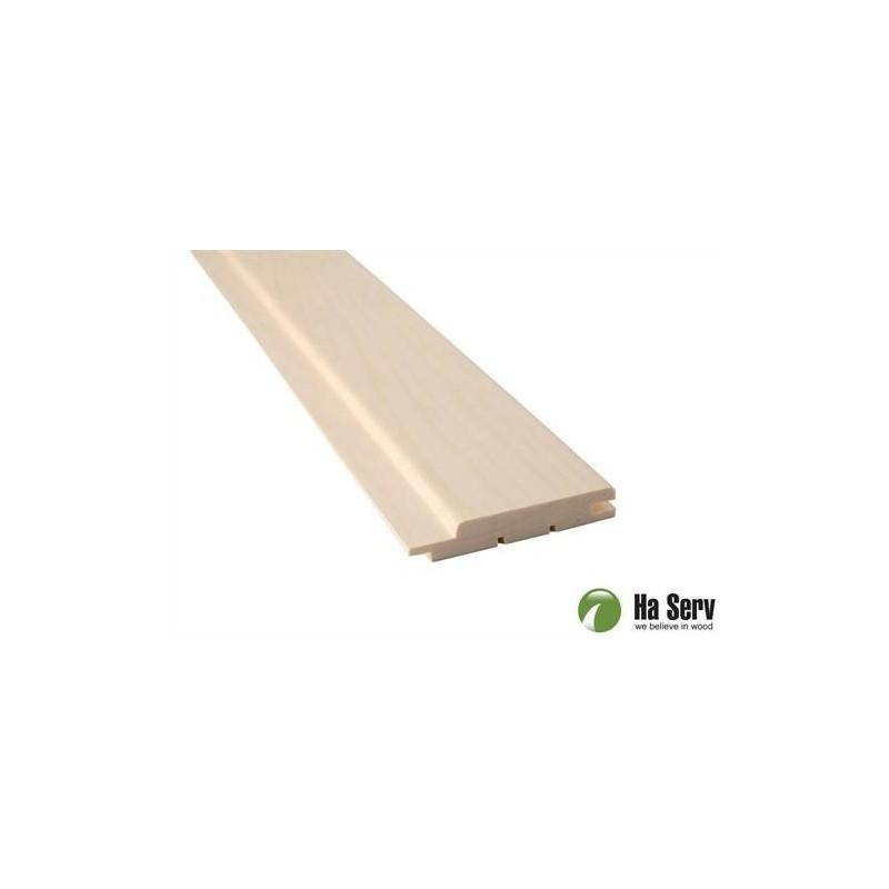 Bastupanel ASP 15x90   Bastupanel i asp. 15x90mm Längd: 1,8 m. 6st/pkt   Längd: 1,8 m. 6st/pkt