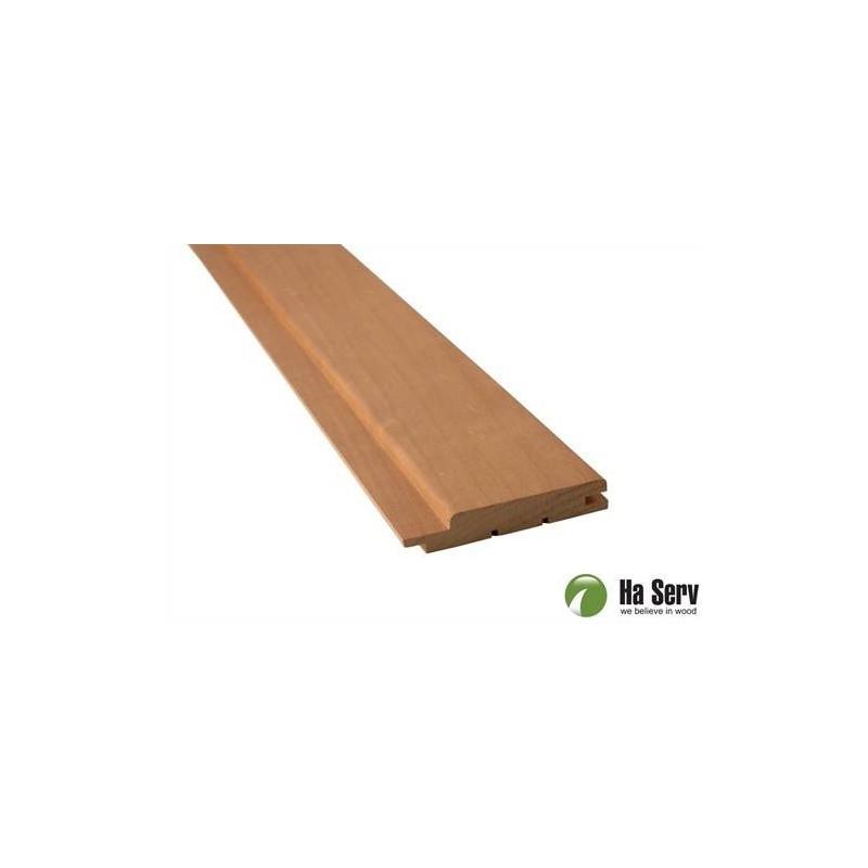 Värmebehandlad ASP 15x90 Bastupanel i värmebehandlad asp. 15x90mm Längd: 2,4 m. 6st/pkt 651 1