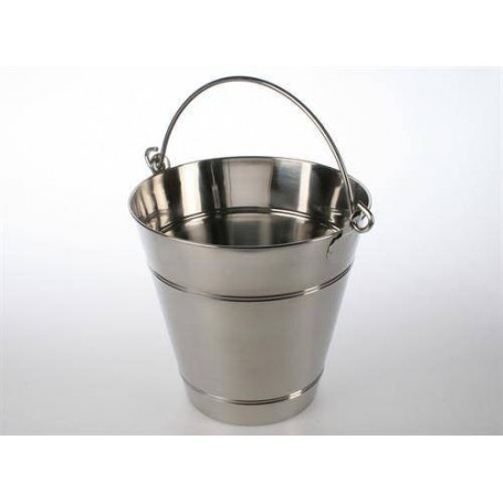 Stävor och skopor   Ved/ Bastuhink 12 Liter, Rostfri