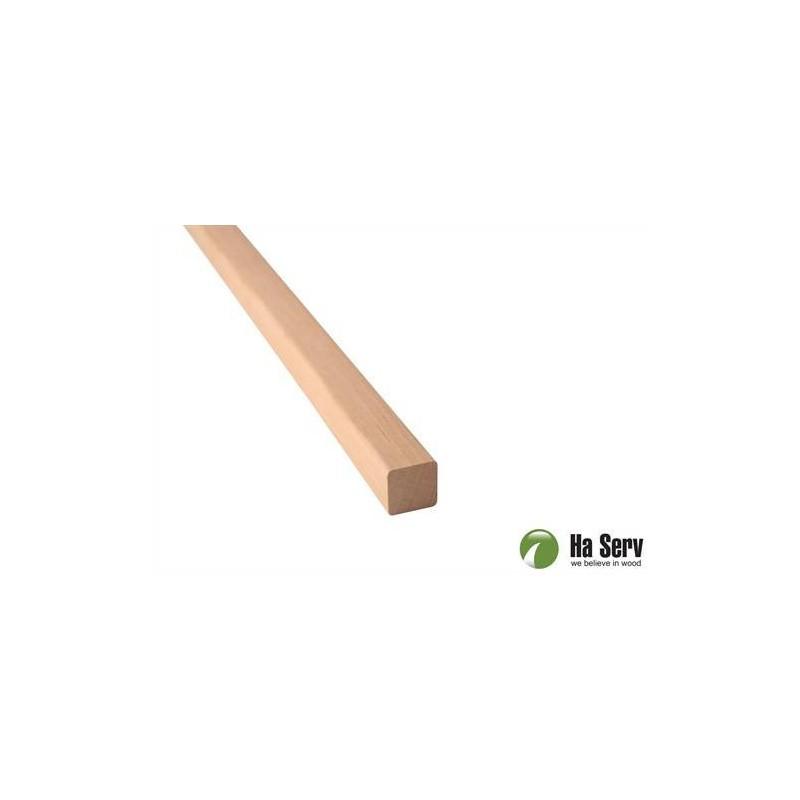 Trälister för bastu 21x21 Fyrkantlist, runda hörn i al. Längd: 2,4 m