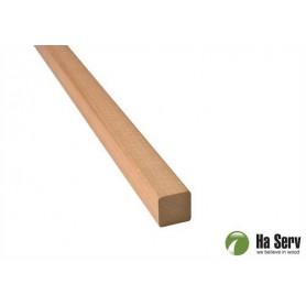 21x21 Fyrkantlist, runda hörn i värmebehandlad asp. 2,4 m