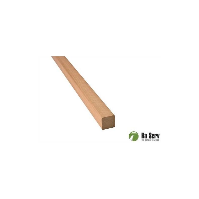 Trälister för bastu 21x21 Fyrkantlist, runda hörn i värmebehandlad asp. 2,4 m