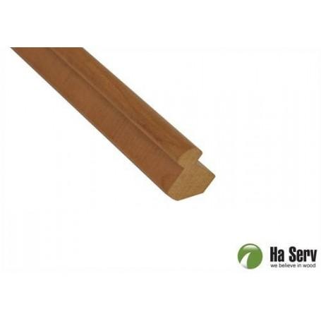 Trälister för bastu   25x25 Innerhörnlist i värmebehandlad asp.  2,4 m