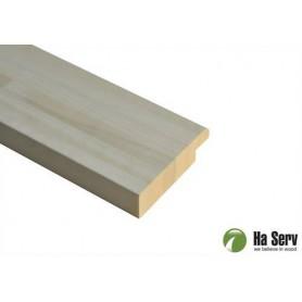 Bastulav ASP 28x45   Bastulav framkant  asp 40x140mm Längd: 2,4 m