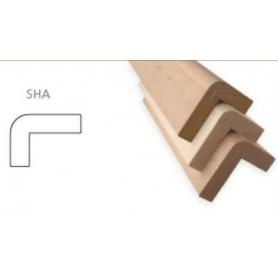 Värmebehandlad  ASP 28x90   Bastulav framkant värmebehandlad asp 80x108mm Längd: 2,4 m