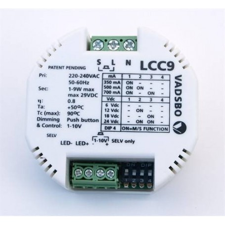 Transformator och tillbehör   Drivdon & Dimmer LED Bastulist 12V 9w LCC9