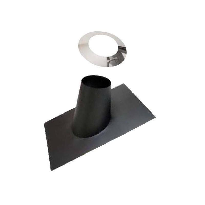 Skorstenstillbehör till bastuugnar Regnkrage-kota, svart 250 mm