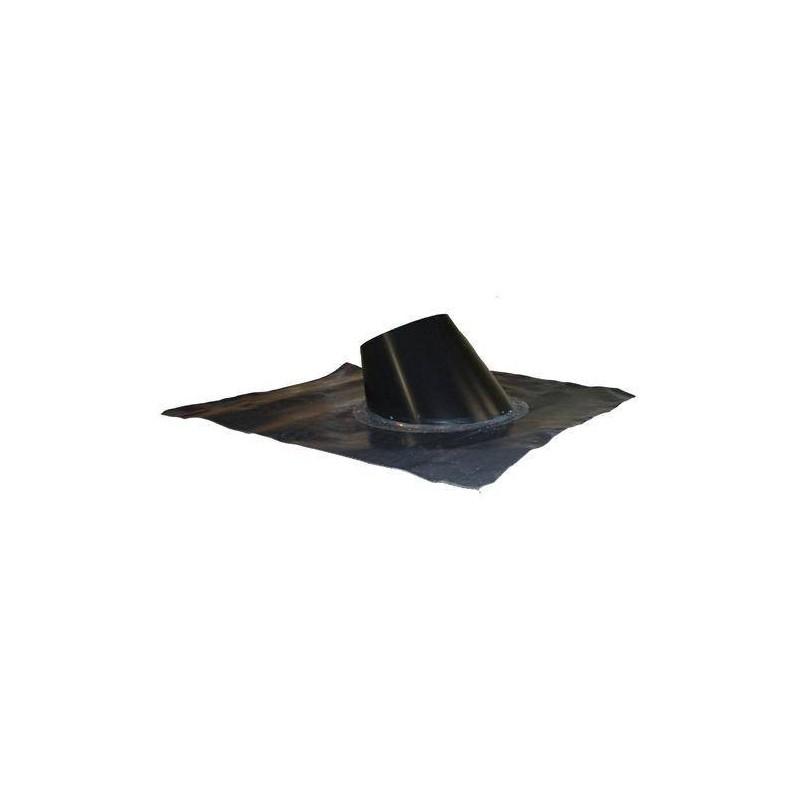 Skorstenstillbehör till bastuugnar   Överbeslag 33-45gr. Formbar, svart