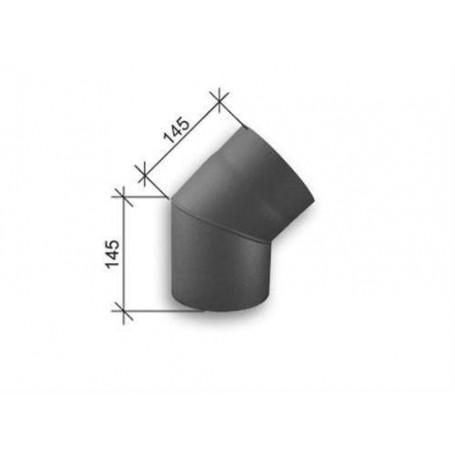 Skorstenstillbehör till Kaminer   SVT Rökrör 45 grader diameter 150 mm.
