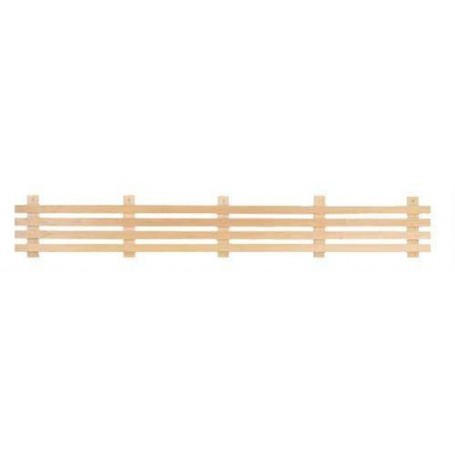 Ryggstöd, armstöd och raster   Raster standard, asp 1,6 m